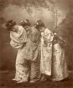 Sybil Grey, Leonora Braham and Jessie Bond in first performances of The Mikado, 1885