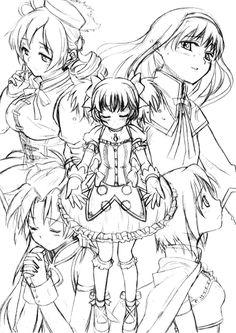 Madoka, Kyoko, Sayaka, Mami, Homura - Mahou Shoujo Puella Magi Madoka Magica