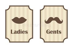 Ladies And Gents Toilet Signs Vector Stock Vector - Image: 63387884