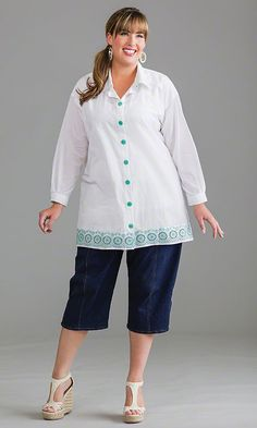 Pacifica Shirt / MiB Plus Size Fashion for Women / Spring Fashion   http://www.makingitbig.com/product/5167
