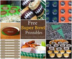 Free Super Bowl Printables #superbowl #superbowlprintables #broncos #seahawks
