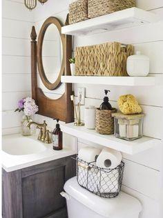 Open shelving & that mirror