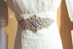 E-Clover Women's Rhinestone Crystal Sash Belts Wedding Dress Sashes at Amazon Women's Clothing store: