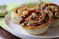 Pizzaschnecken mit Zucchini und Schinken