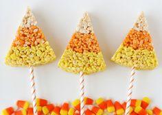 Candy Corn Rice Krispy Treats