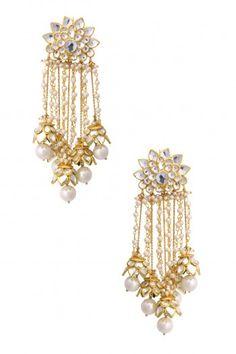 Preeti Mohan Gold Finish Floral Top Earrings #happyshopping #shopnow #ppus