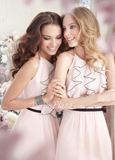 A-line Short Ruffled Low Back Bridesmaid Dress at dressesplaza.com Item: 	18001 List Price: 	$ 369.00 Our Price: 	$150.00