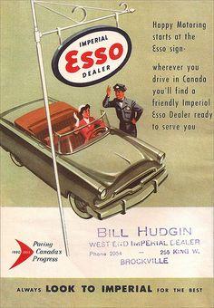 1955 Imperial Esso - Ontario, Canada road map (rear cover)… | Flickr