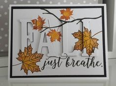 Fall eclipse card using Colorful Seasons