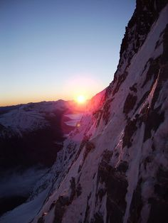 nobody-no:  Sunrise on the slopes while heading for the Mayerlrampe on the Grossglockner.