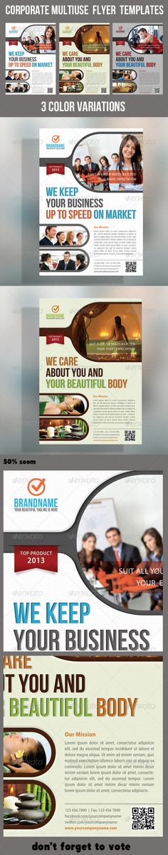 Corporate Product Flyer 14  #GraphicRiver        Pack included:   PSD Flyer Template  3 color variations  A5 – 210×148mm   154×216mm Print size  Print Ready  CMYK, 300dpi  High Quality   Bleeds, Guidlines, safe lines  Highly Organised Layers  Clean Design  Preview Images are not included in the download.  Read me file (included instrucions)   Fonts Required:   Bebas Neue:  .dafont /bebas-neue.font