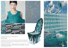 A/W 2017-2018 textile trends for fashion, knitwear, yarns, stitches, fabrics and activewear. Biomimicry macro trend.