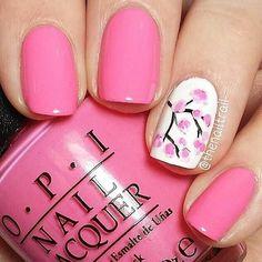 Nails for cherry blossom season
