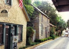 the oldest street in America, Aviles street, St Augustine, Florida (1993)