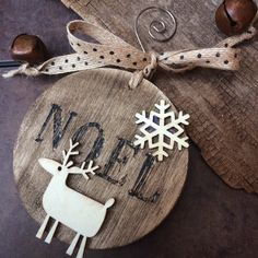 rustic Christmas ornament Christmas ornament rustic by Bedotted $9.99