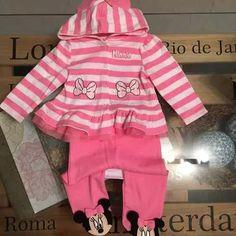 bf46a333e Disney Conjunto Minnie Para Beba 0-3m Body ranita buzo -   450