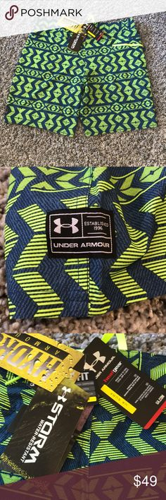 Under Armour NWT Storm Heat Gear Surf Swim Trunks Loose fit! Reasonable offers accepted! Bundle for a private discount! Under Armour Swim Swim Trunks