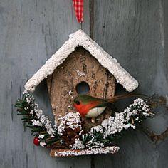 Snowy bird house Christmas Decoration