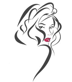 Image result for black hair braids stencil
