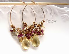 Just love these and they're part of an online class! I know how to wire wrap but I think I might sign up just to get these instructions. Just delicious!
