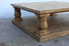 Gorgeous reclaimed wood coffee table. The perfect natural wood stain color for our coffee table in progress.