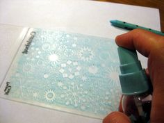 Dry Embossing With Watercolor Crayons