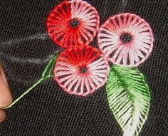 Anything Creative -- buttonhole stitch tutorial
