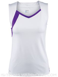 DUC Women's Wink Tank Tennis Uniforms, Navy And White, Color Pop, Basic Tank Top, Athletic Tank Tops, V Neck, Mens Tops, Fashion, Moda