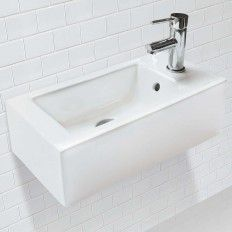 CLASSICALLY REDEFINED® WALL MOUNT OR ABOVE-COUNTER RECTANGULAR Bathroom Sink - RIGHT