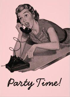 Vintage Retro Womens Birthday Party Invitations. OMG! #womens_birthday_invitations