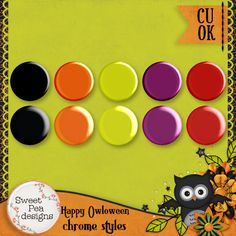 Happy Owl-o-Ween Chrome Styles - $1.00 : Sweet Pea Designs, Making Memories Last