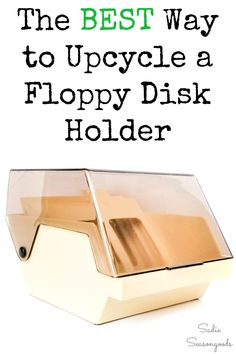 Once upon a time, sitting next to our Commodore 64 and Apple IIe computers, was the lowly floppy disk holder. Nowadays, these things end up on thrift store shelves, collecting dust and side eye glances. But, guess what? I discovered a FANTASTIC way to repurpose them, especially at this time of year. #thriftstorecrafts #upcyclingideas #floppydiskholder #seedstarter #seedstarting #DIYgreenhouse #greenhouseideas #tabletopgreenhouse #smallgreenhouse #herbgarden #indoorgreenhouse #upcycledtech Indoor Greenhouse, Small Greenhouse, Diy Garden Furniture, Diy Garden Projects, Garden Tips, Apple Iie, Thrift Store Crafts, Floppy Disk, Seed Starting