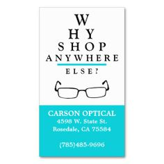 Optical Shop Business Card Template More