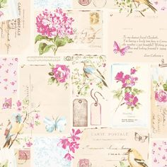 Colours Inady Pink Floral Patchwork Wallpaper | Departments | DIY at B&Q