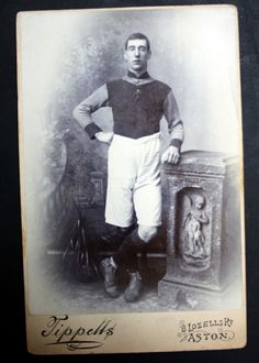 This is a small collection of Aston Villa cabinet cards from the early Cabinet cards were widely used after and were a style often used for Aston Villa Fc, British Football, Football Stickers, Football Pictures, Football Players, Badges, Vintage Photos, Stamps, Soccer