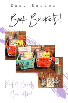 These easy Easter book buckets are a great Easter basket alternative! Skip the Easter candy and try this fun book bucket idea! You can customize this for each child! Make Money From Home, Make Money Online, How To Make Money, Easter Books, Easter Candy, Good Books, Amazing Books, Kids Reading, Easter Baskets
