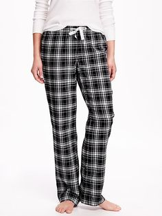 Flannel PJ Bottoms in Black Flannel, $7.00 at Old Navy