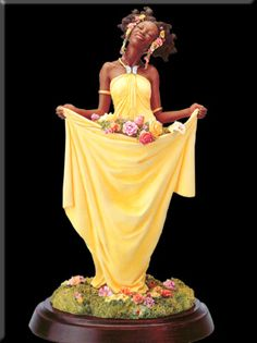 Spring by Thomas Blackshear - Retired Ebony Visions Keepsake Collectibles African Figurines, African American Figurines, Black Figurines, African American Artist, American Artists, Thomas Blackshear, Kehinde Wiley, African Art Paintings, Black Artwork