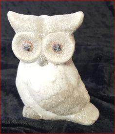 Eule Keramik weiß/grau/Glitter Preis: 2,99€