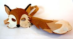 fox mask costume | Xander Fox Mask and Tail Pretend Play Costume by ... | Costumes