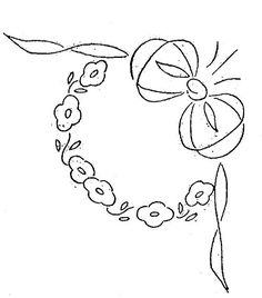 Silk Ribbon Embroidery, Hand Embroidery Patterns, Vintage Embroidery, Embroidery Applique, Cross Stitch Embroidery, Machine Embroidery, Crochet Wool, Linens And Lace, Lazy Daisy Stitch
