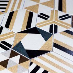 "Fabrica Hexagon 8"" x 8"" Ceramic Field Tile in Beige"