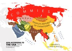 Asia According to Americans 2012 31 Maps Mocking National Stereotypes Around the World | Bored Panda