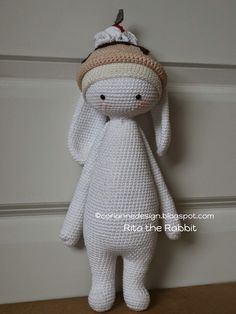 RITA the rabbit made by coriannedesign / crochet patterns by lalylala