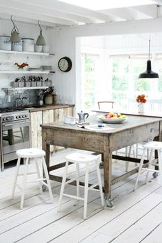 Bright English Farmhouse Kitchen.  From Makelight weekend 13.