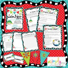 Brighten up those Winter Days with some winter fun for your classroom