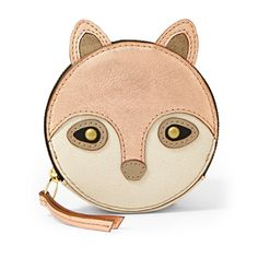 Fossil Fox Zip Coin Pouch