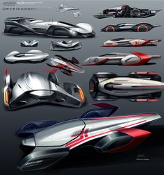 Audi Streamliner development sketches. #Audi #Concept #Art  complete work on https://www.behance.net/guilhermek67b4