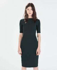 Image 1 of LONG SHIFT DRESS from Zara