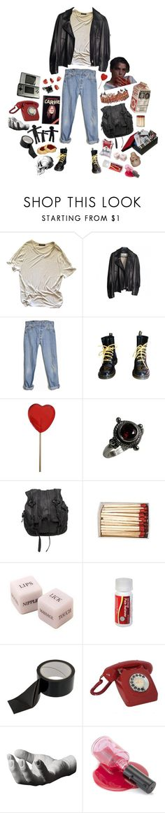 """""""disaster child"""" by l-lullabies ❤ liked on Polyvore featuring Alexander Wang, Yves Saint Laurent, Levi's, Dr. Martens, Retrò, AllSaints, Nintendo, CO, Harry Allen and GET LOST"""